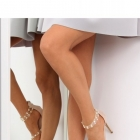sandałki nude na obcasie glamour