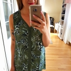 Zielona bluzka top kwiaty koronka XXL 44
