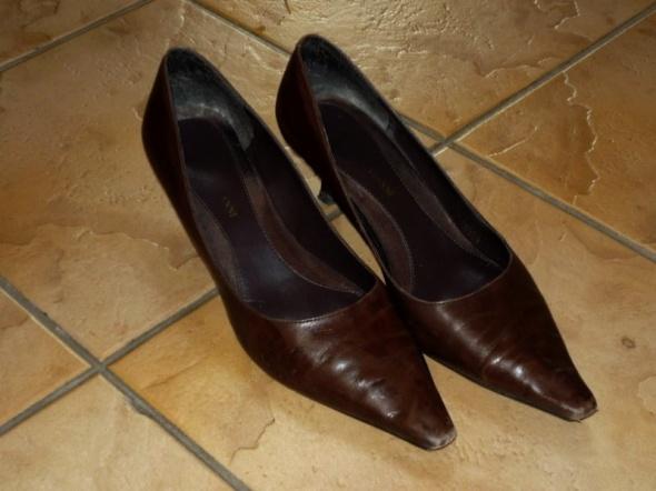 r 39 ROBERTO VIANNI skórzane buty klasyczne szpic