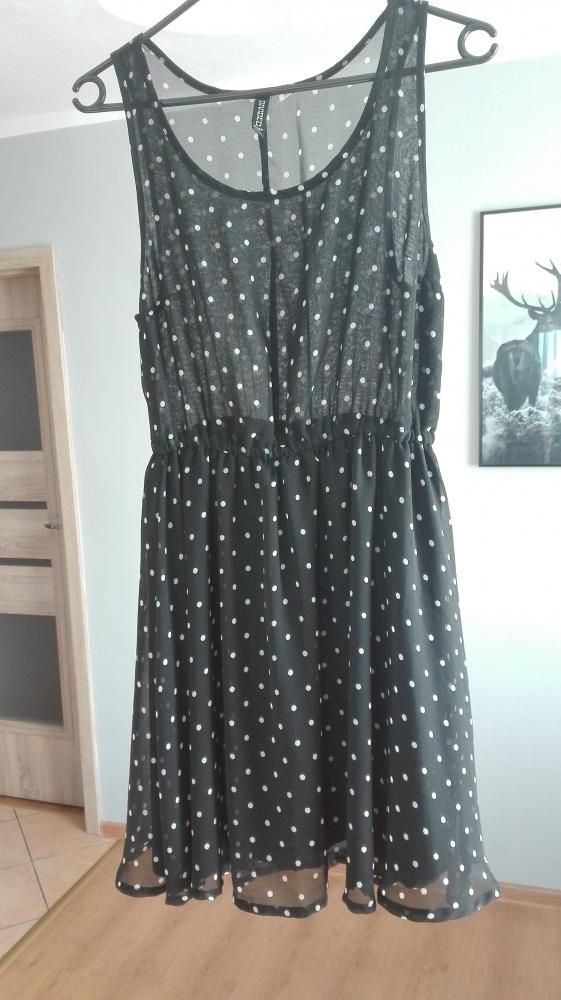 Mini sukienka w kropki H&M