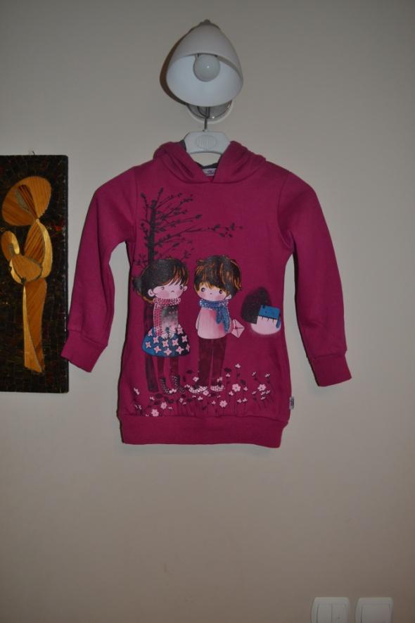 Bluza 134 cm 128 cm róż fuksja Sun
