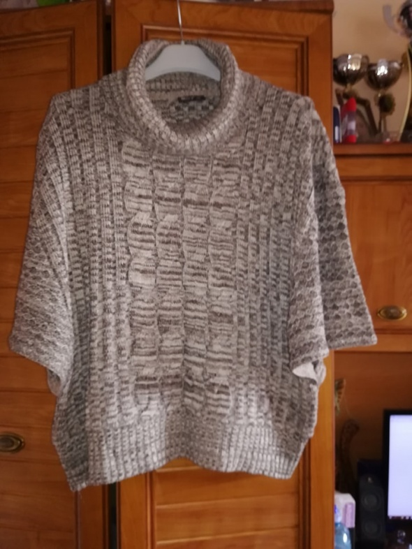OKAY sweter z golfem dla puszystej 50 52
