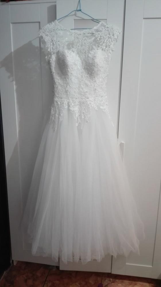 Suknia Ślubna koronka tiul z kryształkami