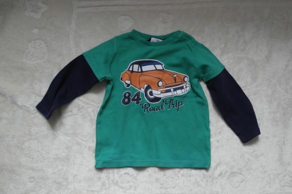 Bluza zielona z samochodem 98