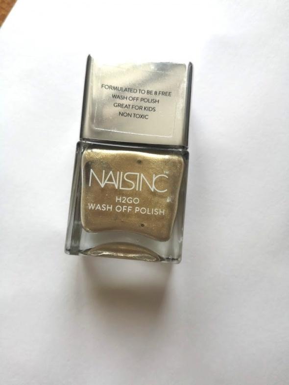 nails inc lakier do paznokci złoty nowy 14 ml