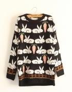 Sweter wielkanocny króliki z marchewką...