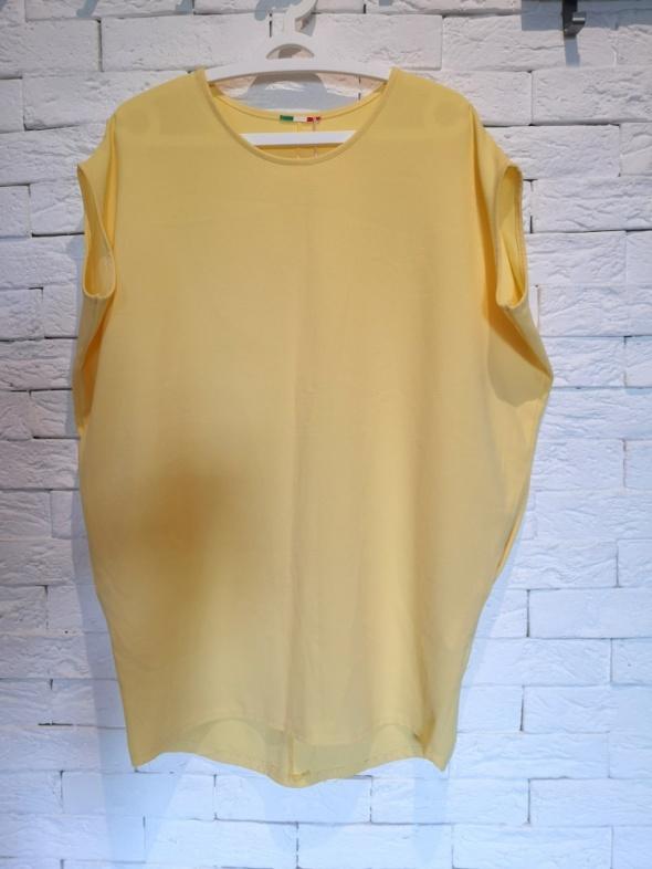 sukienka S M L boho nude pastelowa żółta oversize włoska
