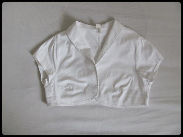 Bolerka Białe bolerko w rozmiarze 38 krótki rękaw
