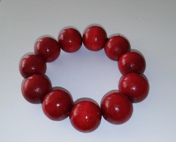czerwona bransoletka korale