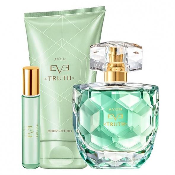 Eve Truth zestaw woda balsam i perfumetka Avon nowy