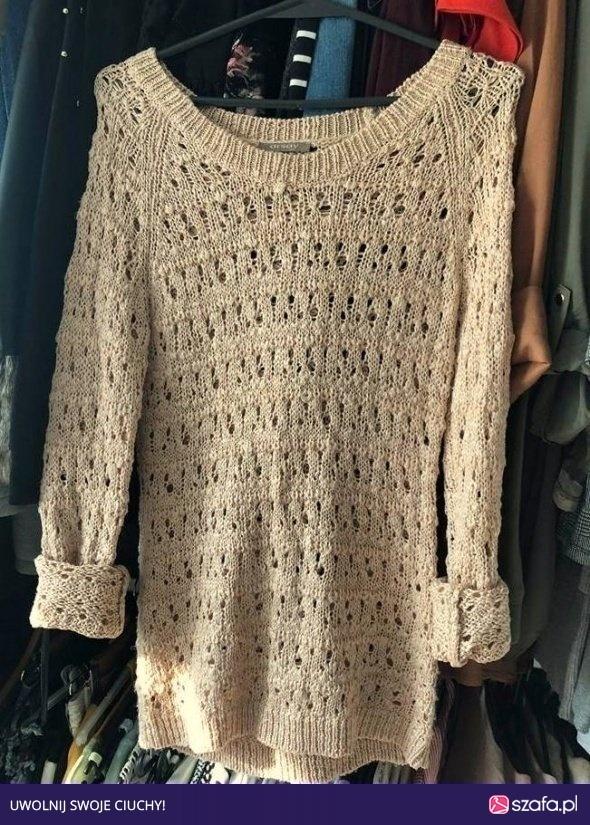 Wyprzedaż pudrowy sweterek orsay