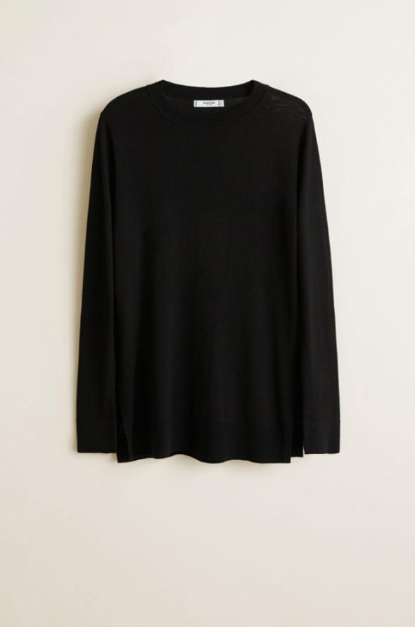 Czarny sweter z wiskozy Giada Rozmiar 48 50