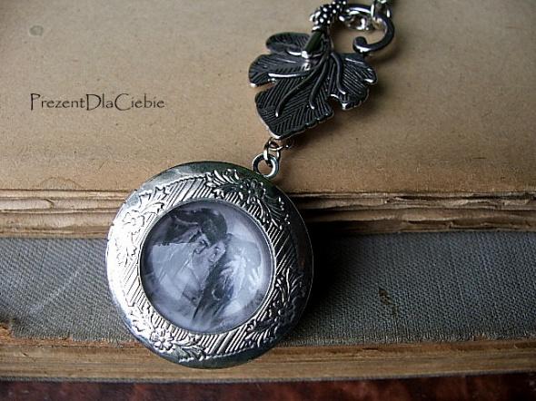 Walentynki sekretnik na zdjęcie wisior medalion pudełko dla niej