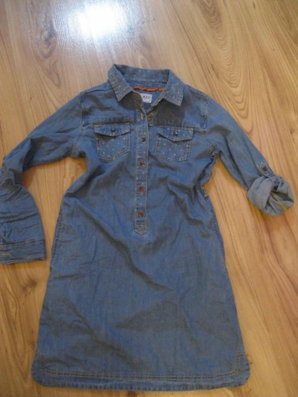 sukienka jeans CHEROKEE 128 niebieska