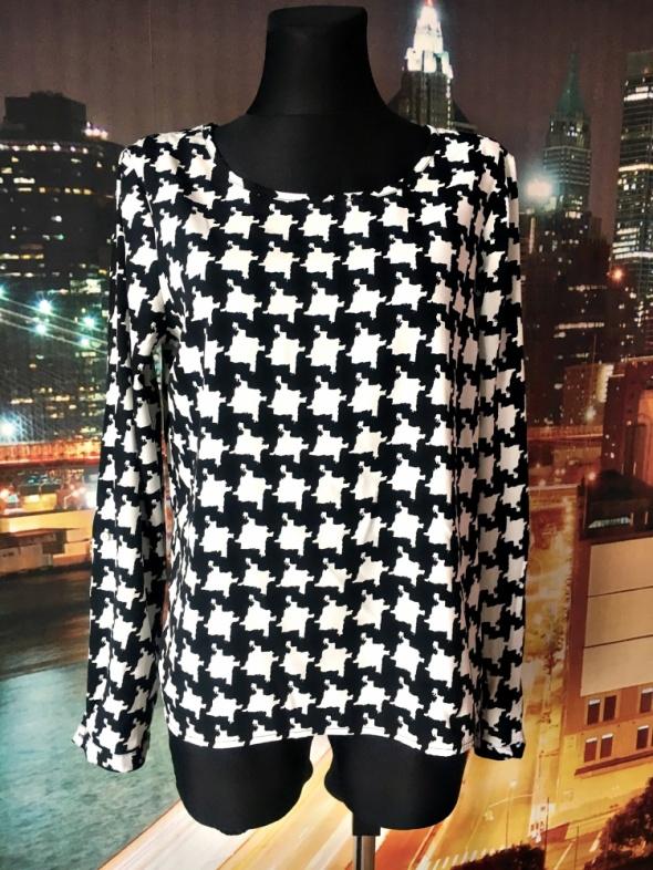 vila bluzka elegancka modny wzór pepitka hit blog 40 L