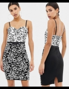 LIPSY sukienka na lato letnia koronkowa kwiaty 34 36 XS S...