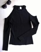 Nowa czarna bluzka sweterek open shoulder H&M...