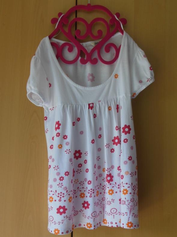 CHEROKEE biała bluzka kwiaty kwiatki floral 38