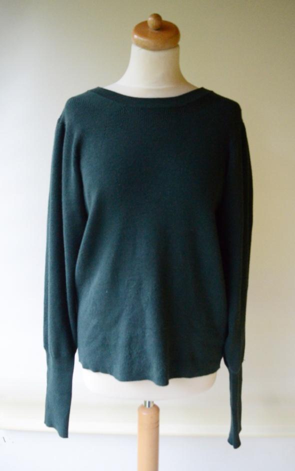 Sweter Zielony Lindex XL 42 Szerokie Rękawy Butelkowa...