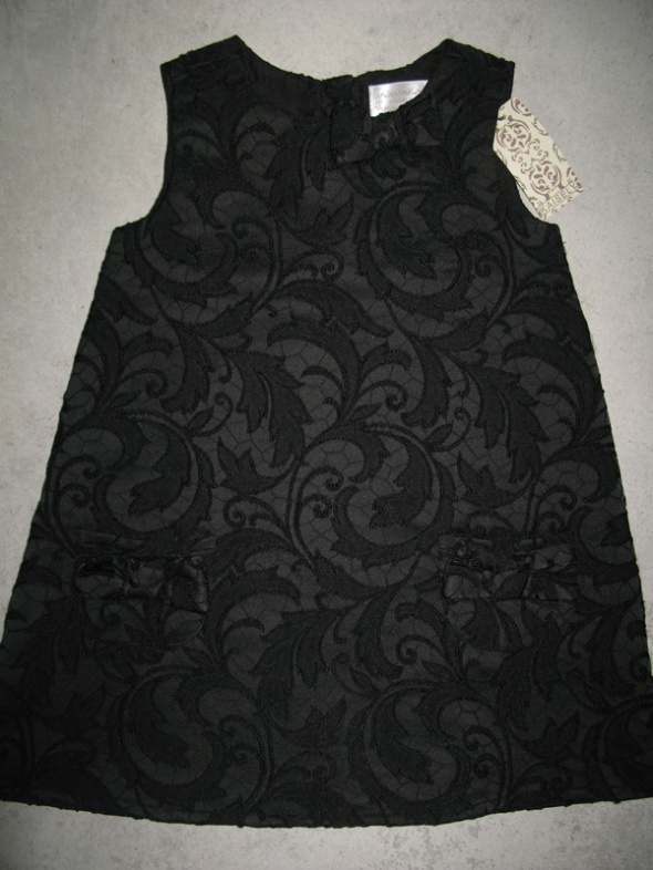 KAISELY czarna elegancka sukienka dla dziewczynki roz 98
