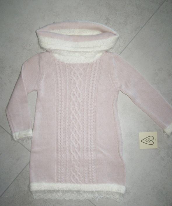 TJX EUROPE różowa sukienka z golfem roz 92