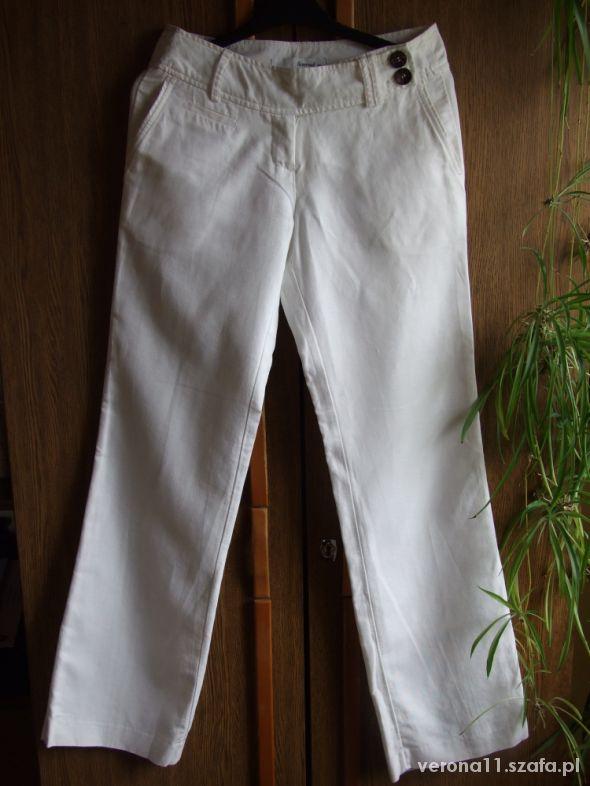 Białe lniane spodnie Reserved rozm S...