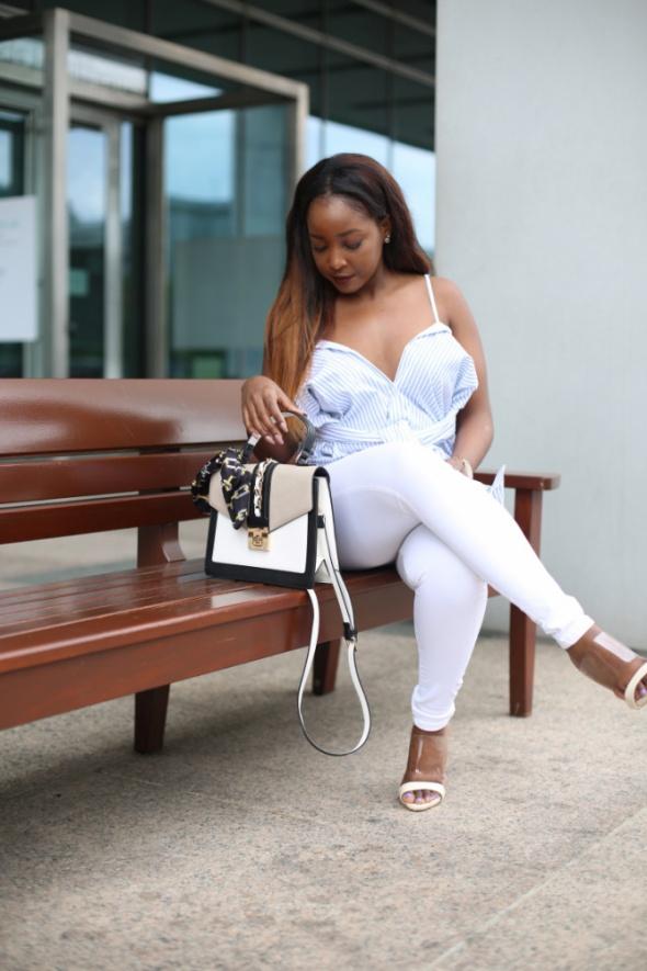 Zara nowa koszula paski biała multiway elegancka