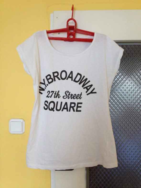 Koszulka z napisem czarny napis biała M XL 38 40 B