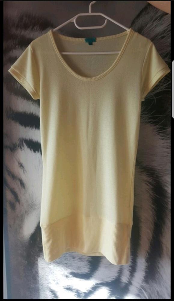 Cytrynowa długa bluzka