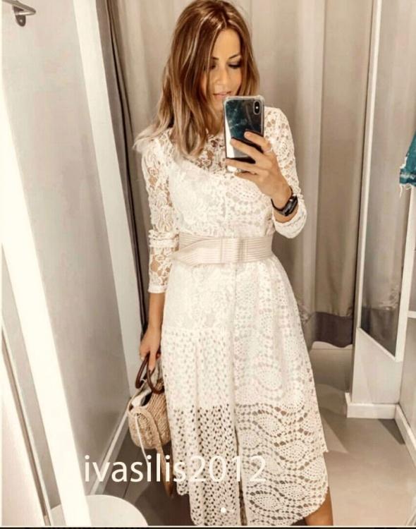 Zara sukienka z gipiury blog 36 S