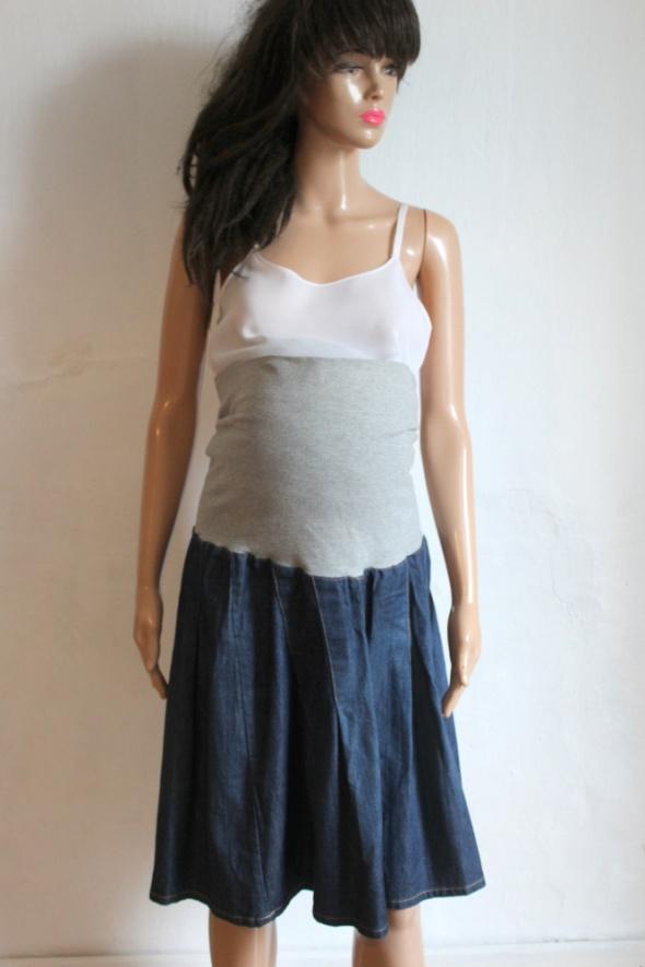 Jeansowa spódniczka ciążowa r S