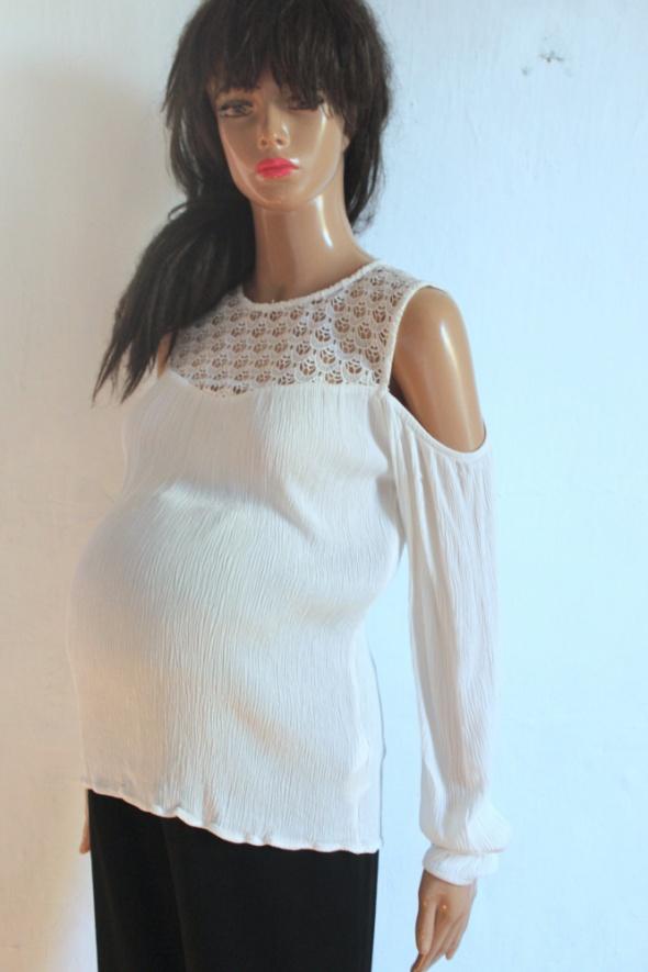 Biała elegancka bluzka idealna na ciążę r S