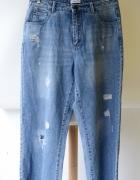 Spodnie Jeansowe Dziury Only W38 L34 Proste Nogawki Przetarcia...