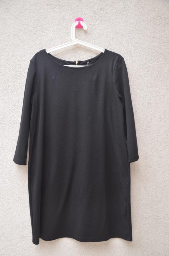 H&M basic czarna klasyczna sukienka