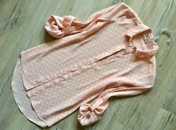 River Island bluzka koszula w grochy roll up S do M...