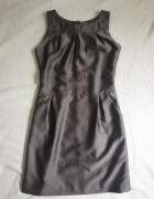Szara elegancka sukienka S M...