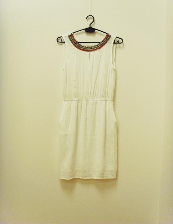 Mango sukienka zwiewna letnia biała grecka 34 XS