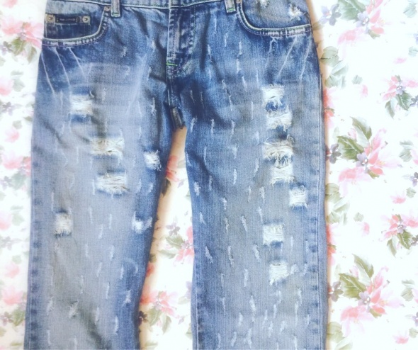 Asos jeansy haft floral S