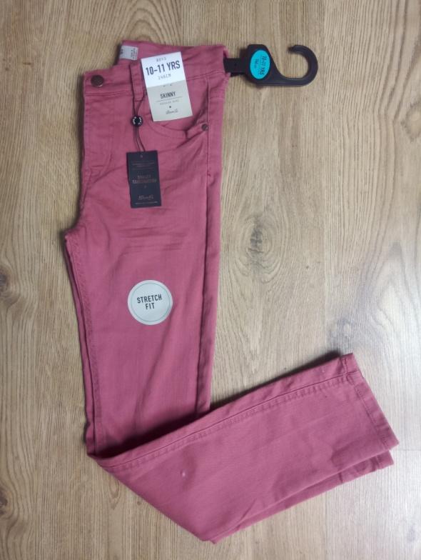 Spodnie skinny ceglaste