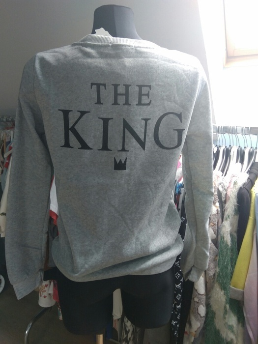 THE KING szara bluza idealna na prezent