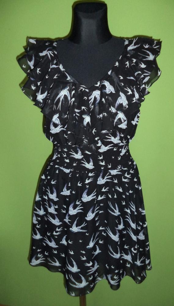 Sukienka jaskółki falbanki...