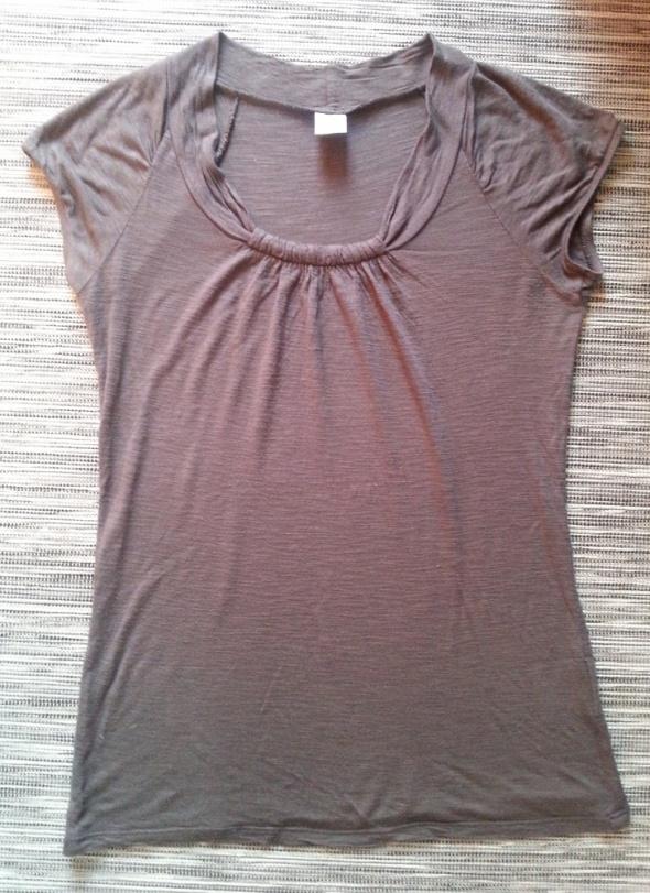 Koszulki Brązowa bluzka Camaieu S M