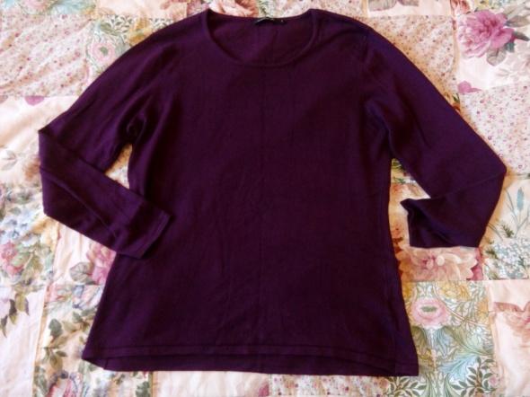Śliwkowy sweterek L XL