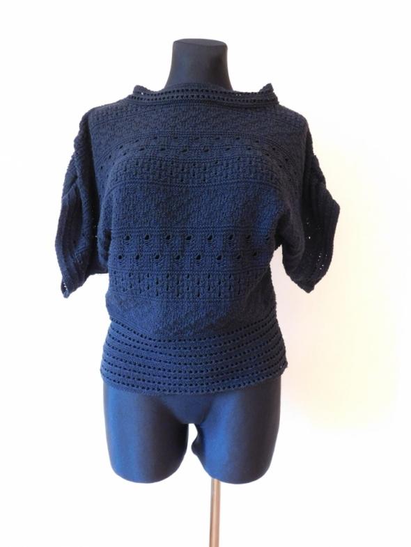 Topshop czarna bluzka sweterek nietoperz 36 38