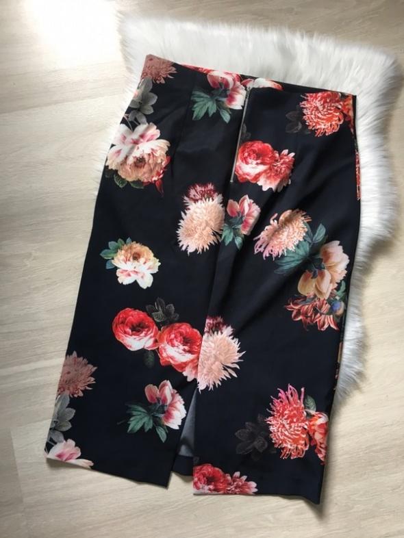 ZARA spódniczka spódnica tuba kwiatowy wzór wysoki stan ołówkowa 42