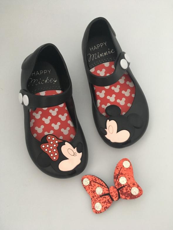 Meliski dziecięce buty buciki czarne balerinki lato dla dziewczynki myszka Minnie