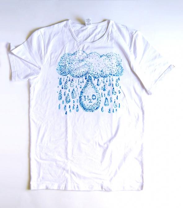 rozmiar L koszulka z chmurką tshirt biały