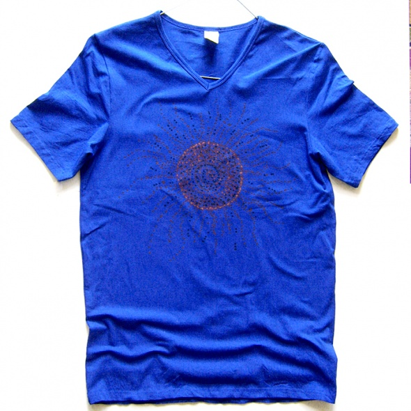 Granatowa koszulka Ethnic sun rozmiar L 5