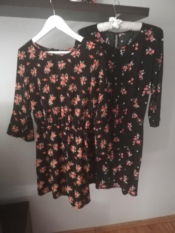 hm dwie sukienki czarne w kwiaty