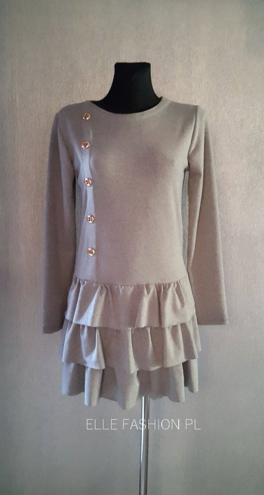 Suknie i sukienki Śliczna szara sukienka S M